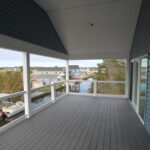 Teal Bliss Waterfront newly constructed home in Swann Keys third floor porch view